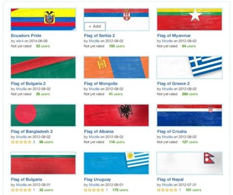 firefox themes gallery 17 best images about world flag themes on pinterest