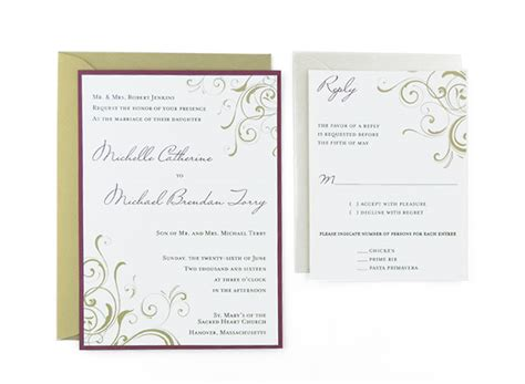 Cards And Pockets Weddin Template by Corner Swirls Free Wedding Invitation Template