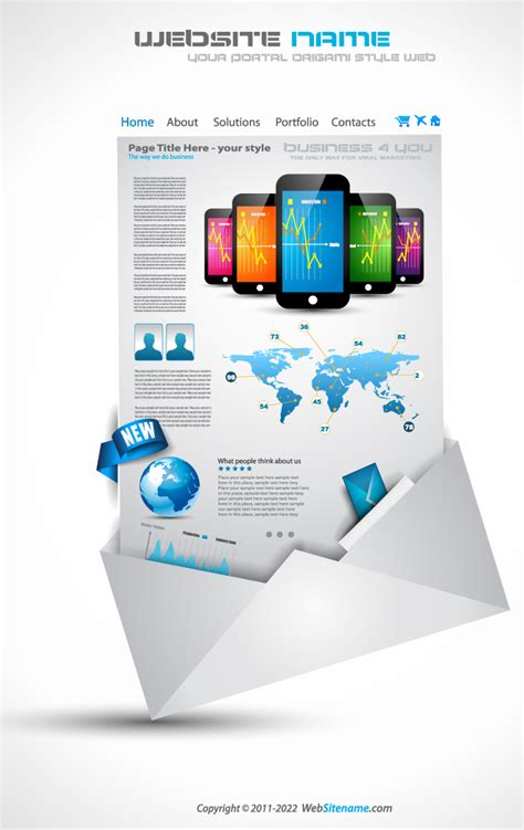 Mobile Sales Web Template Free Vector Graphic Download Free Sales Website Template