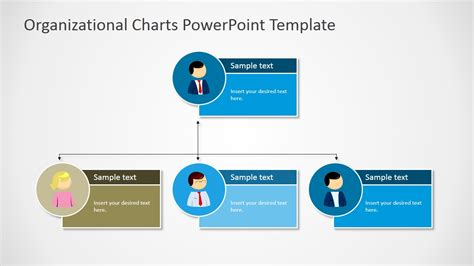 Organizational Charts Powerpoint Template Slidemodel Powerpoint Organizational Chart Template