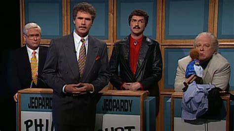 snl celebrity jeopardy below me watch celebrity jeopardy phil donahue burt reynolds