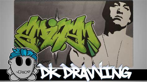 eminem graffiti letters stencil drawing youtube