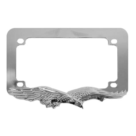 gestell mit teller eagle chrome metal motorcycle license plate frame