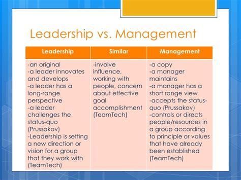 Leadership Vs Management Essay by Leadership Vs Management Essay 187 Original Content