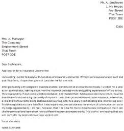 cover letter for insurance underwriter cover letter