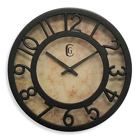 bed bath and beyond clocks geneva cut out numeral clock in brown bed bath beyond