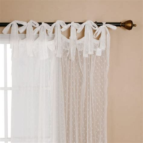 tie top curtains white best home fashion swiss dot lace curtains tie top