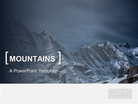 powerpoint templates free mountains powerpoint template mountains presentationgo com