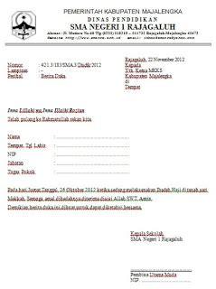 Surat Izin Sekolah Simpel by Contoh Surat Berita Duka Docx Contoh Surat Lengkap
