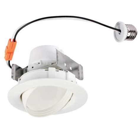 Lu Downlight 10 Watt westinghouse 4 inch sloped recessed led downlight 10 watt