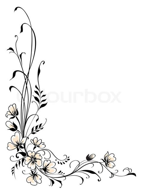 Blumenmuster Vorlagen Blumen Hintergrund Rosa Blume Vektor Vektorgrafik Colourbox