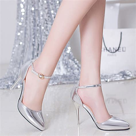 womens high heels with bottoms gold silver 2016 patent leather high heels shoes