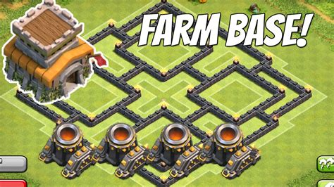 layout cv 8 farming youtube clash of clans layout cv 8 farm 4 morteiros youtube