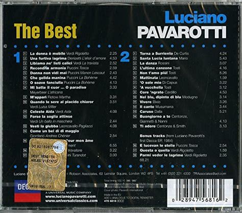 luciano pavarotti the best luciano pavarotti the best farewell tour import it all