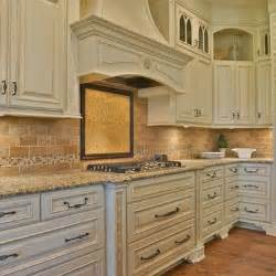 Ivory White Kitchen Cabinets These Cabinets Antique Ivory With Mocha Glaze Kitchen