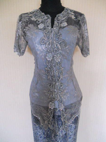 Kebaya Dress Bordir Payet Rms kebaya wisuda pagar ayu i081 bahan broklat tile polos