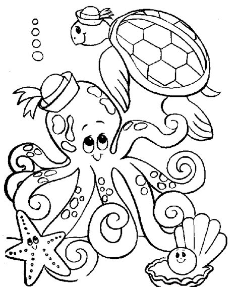 coloring page for octopus free printable octopus coloring pages for kids