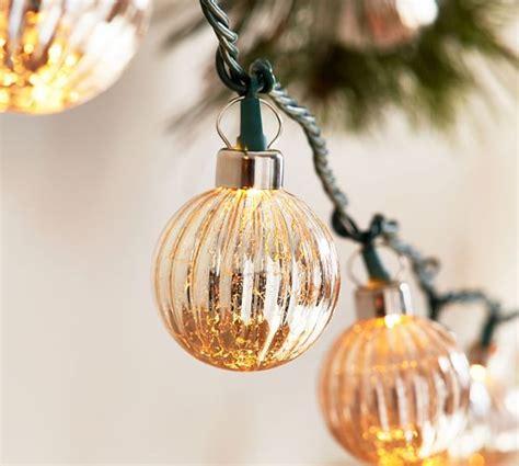 Silver Mercury Glass String Lights Pottery Barn Glass String Lights