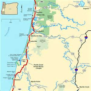 oregon coast map oregon byway map