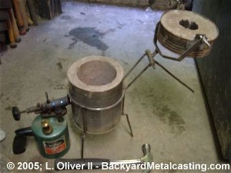 backyard metal casting furnace the lid off