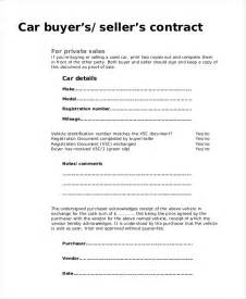 buyer seller contract template contract for buying a used car diarra