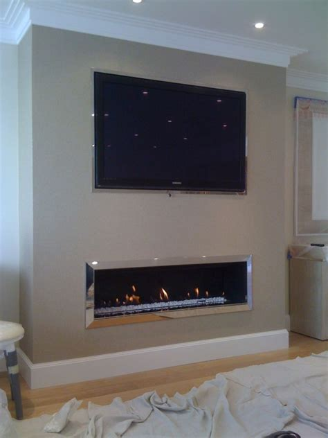 television over fireplace linear fireplace on pinterest contemporary fireplaces