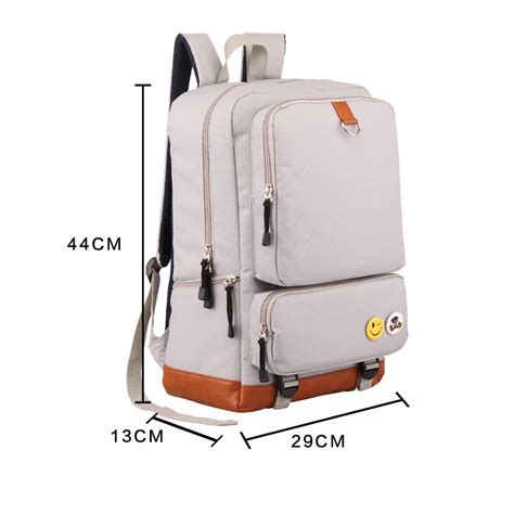 Bagpack Korea White korean style lightweight solid color oxford school backpack casual travel laptop bag white