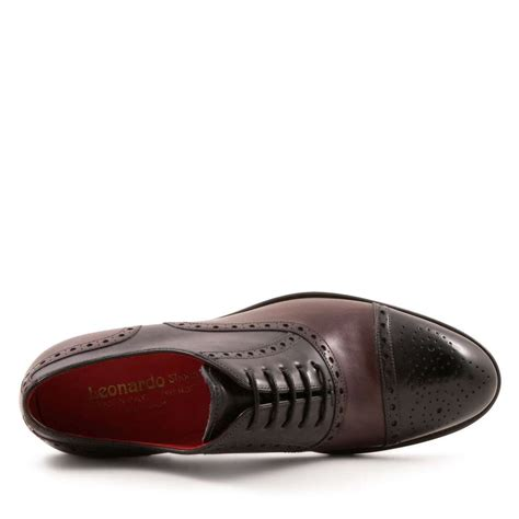 handmade s oxford shoes in leather leonardo