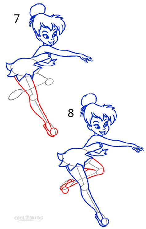 Drawing Step By Step by How To Draw Tinkerbell Step By Step Pictures Cool2bkids
