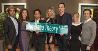 And Alley Cast Pasadena Names Quot Big Theory Alley Quot After Show