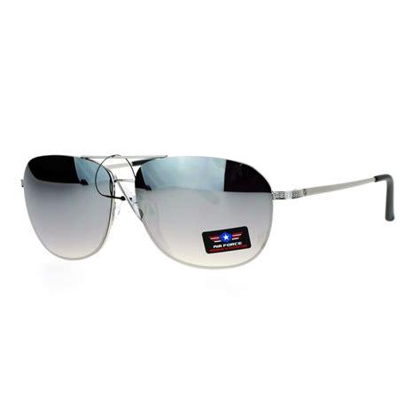 Rimless Aviator Sunglasses sa106 air mens mirrored rimless aviator sunglasses
