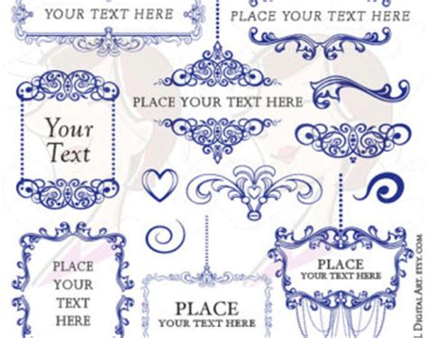 dark blue outline clipart frames and borders clipartfest
