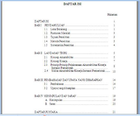 cara membuat daftar isi karya tulis ilmiah contoh daftar isi karya ilmiah