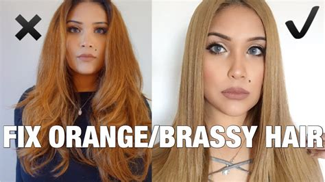 light ash blonde hair color over yellowish orange hair how to fix orange brassy hair to light ash brown youtube