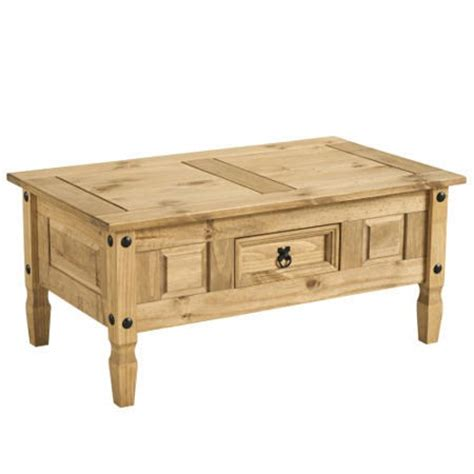 small pine coffee table with drawer corona solid pine 1 drawer coffee table furniture123