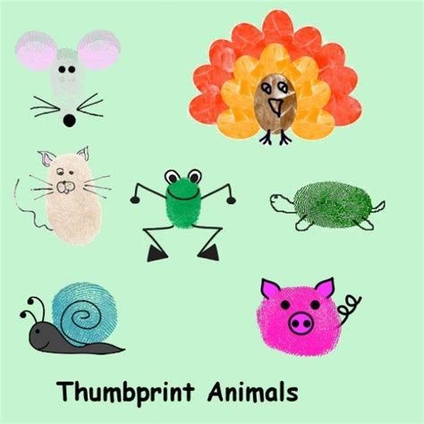 Thumb Print Cards Craft By Free Template by Thumbprint Characters For Greeting Cards And Scrapbooking