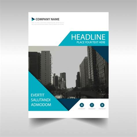 layout cover brochure blue brochure cover vector free download