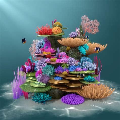 coral reef  model cgtrader