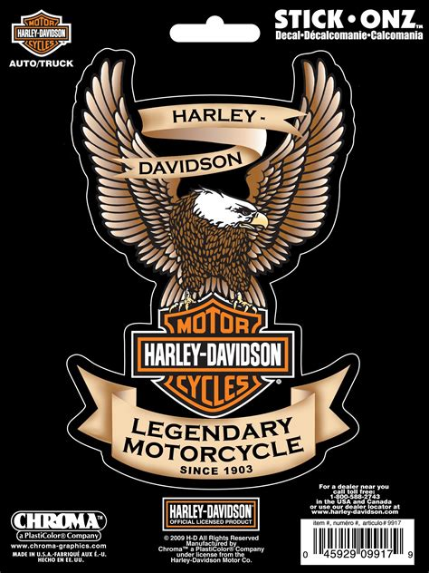 Auto Logo Eagle by Harley Davidson Logo Window Decal Eagle Sticker Car Truck