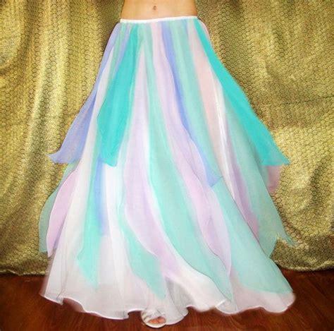 Softlens Aquas Lavender New ameynra belly costume maxi skirt white chiffon with more lilac aqua lavender color