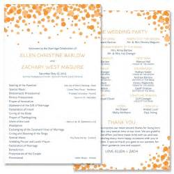 Unique wedding programs whimsical wedding programs