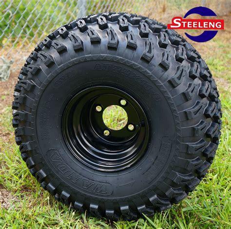 golf cart  black steel wheels    terrain