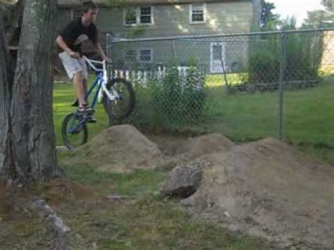 backyard bmx dirt jumps backyard dirt jumps youtube