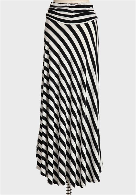 18046 Skirt Blackwhite maxi skirt in black 35 99 at shopruche a wardrobe essential this delightful
