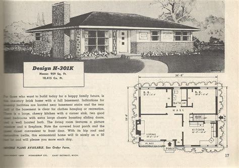 Ranch Bungalow Floor Plans by 1950 Ranch House Plans 1950s Ranch Plans
