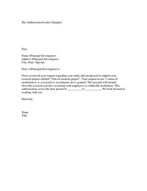authorization letter template format for authorisation letter best template collection