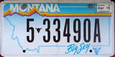 Montana License Plate Sticker Placement