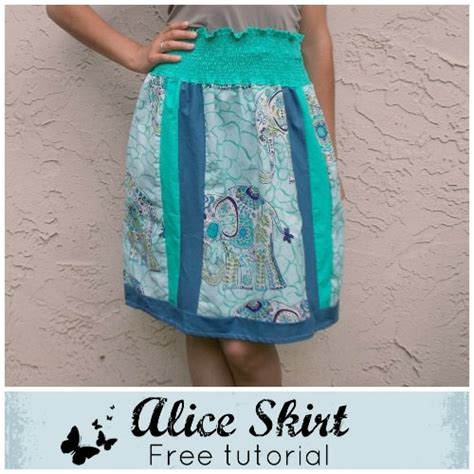 simple no pattern skirt easy no pattern needed alice skirt tip junkie