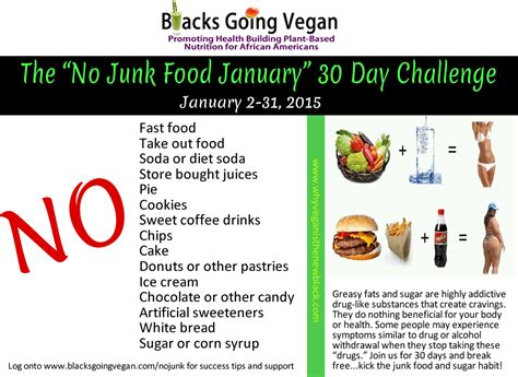A New Cooking Challenge 2 by No Junk Food January 30 Day Challenge Going Vegan