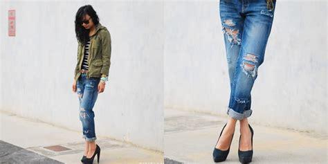 Celana Robek Depan fashion yuk modifikasi celana biasa jadi lebih rock n roll vemale